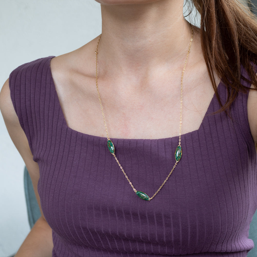 Load image into Gallery viewer, Malachite Ovals Necklace