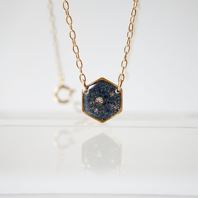 Galaxy Hexagon Necklace