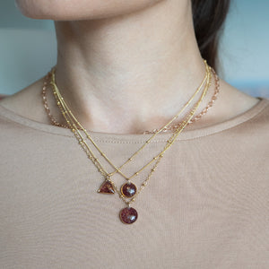 Garnet Dainty Necklace