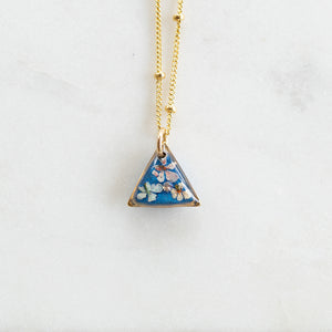 Small Flower Blue Necklace