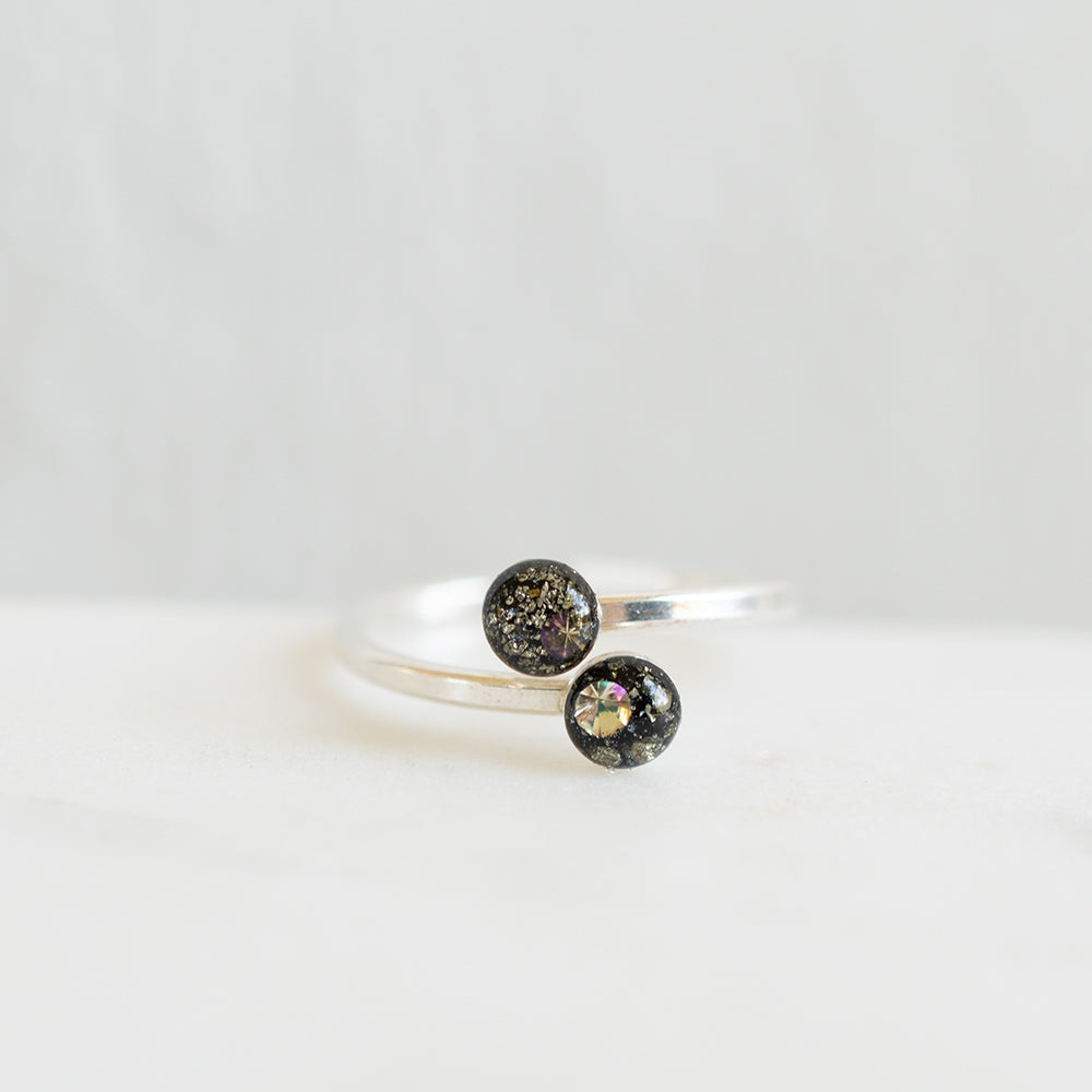 Galaxy Dots Ring in Silver
