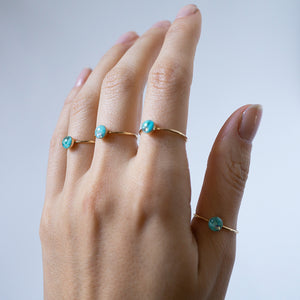 Tiny Blue Turquoise Ring