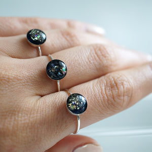 Galaxy Ring in Silver