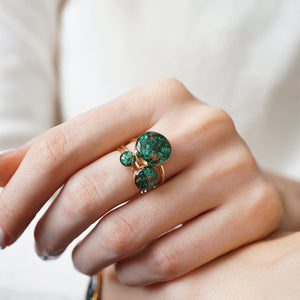 Load image into Gallery viewer, Malachite ring