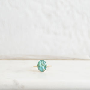 Load image into Gallery viewer, Oval Turquoise Ring