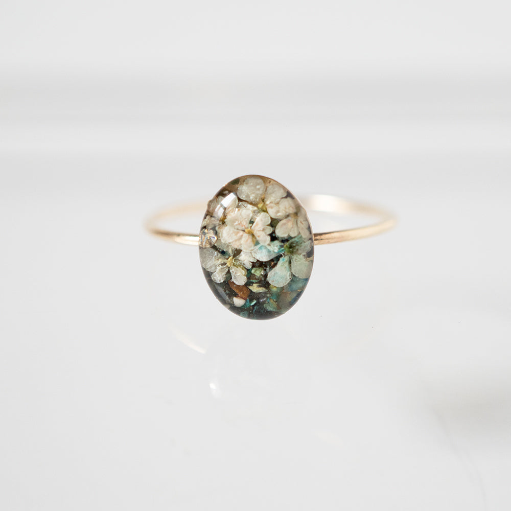 Oval Flower Ring