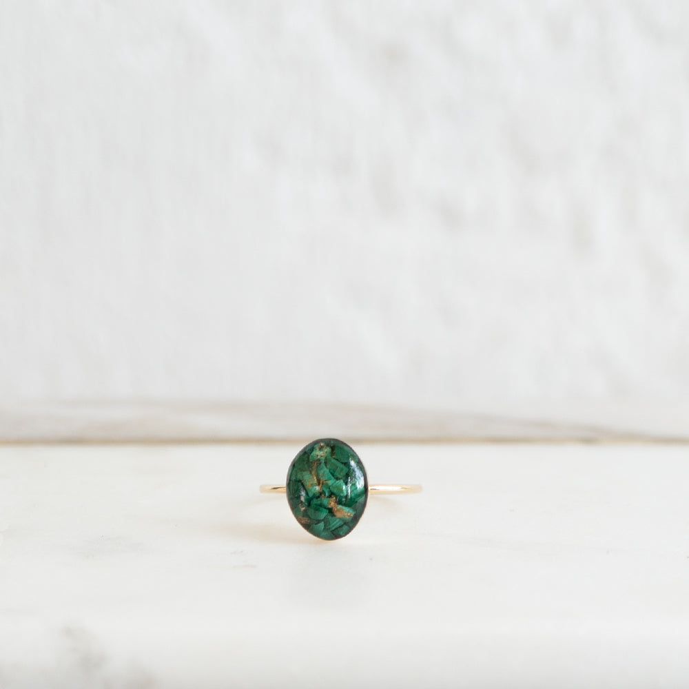 Oval Malachite Ring