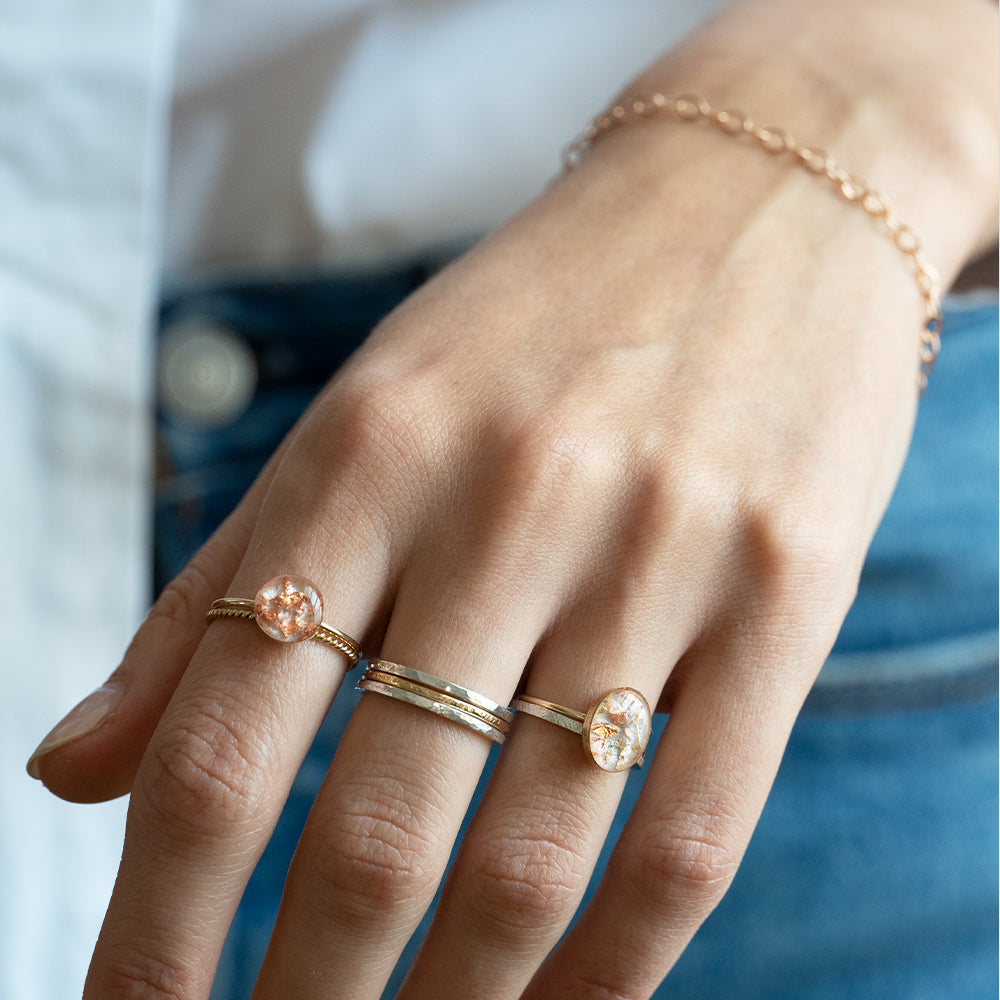 Stacking thick rings