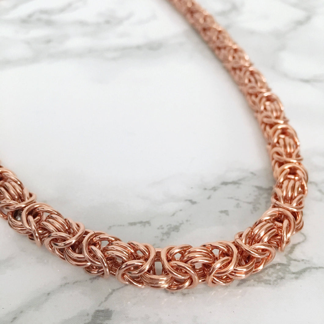 necklace modern products copper men maille for chain modernmailleco byzantine