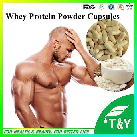 500mg 100 Capsules Pure Whey Protein Powder Capsules WPC80 Fitness Nutrition Supplements Increase Body Muscle Weight Food