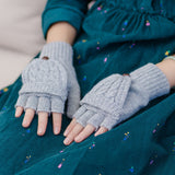 2 in 1 Fingerless Gloves & Mittens