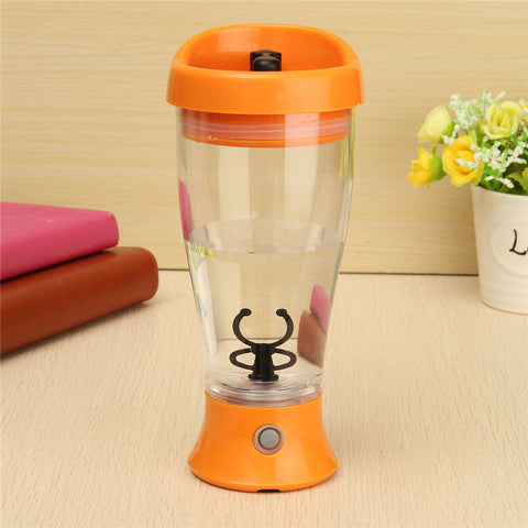 Electric Protein Powder Shaker Kettle 350ml Coffee Milk Juice Shake Automatic Stir Jar Fitness Sports Water Bottle Blender Jug