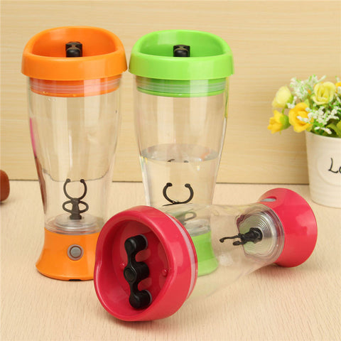 350ml Electric Protein Powder Shaker Bottle Coffee Milk Juice Shake Automatic Stir Jar Fitness Sports Water Bottle Blender Vase