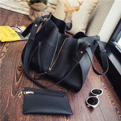 2016 Change Shape Women Bag Set PU Leather Handbags Composite Bags Women Handbag And Purse Set Big Shoulder Bag Ladies Hand Bags