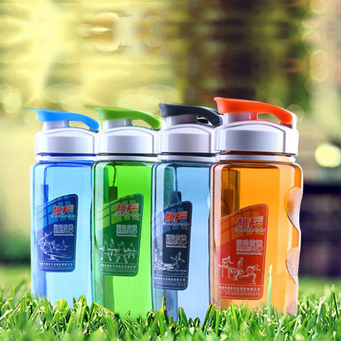 Hot Sell 470ml Plastic Sports Water Bottle Space Bottle Bike/Outdoor/Camping Protein Powder Shaker Bottle