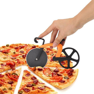 Creative Stainless Steel Sharp Bicycle Design Pizza And Flat Bread Cutter