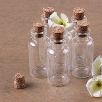 Gorgeous Mini Messages And Wishes Transparent Corked Glass Bottles (24 Pcs/Set)