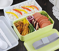 Gleaming Double Layered BPA Free Microwavable Lunch Box (1000 ml Capacity)