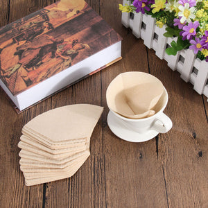 Easy To Fold Coffee Paper Filters To Save Your Taste Buds From Bitter Taste (40 Pcs)