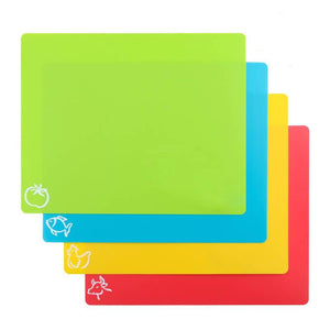 Flexible Non Slip Individually Labelled Chopping Mats (4 Pieces Set)