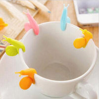 Cute Snail Tea Bag Holders That Decorate Your Mugs With Lovely Colors (5 Pieces Set)