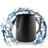 Luxury Black Stainless Steel Non Stick Mug And Jug For Your Coffee, Milk And Other Drinks