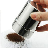 Stainless Steel Shaker With Sifter Lid For Chocolate And Icing Sugar Sprinkle