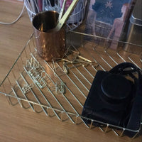 Modern Metallic Kitchen Basket So You Could Easily Store and Move Important Things In Style