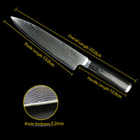 Ultra Sharp Stainless Steel Kitchen Knife With Micarta Handle For Precise Cutting (8 Inch Length)