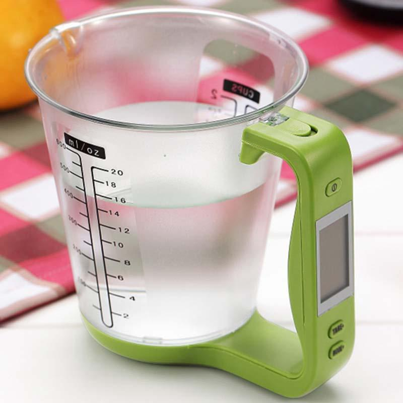 Advanced Built In Digital Measuring Scale Jug With LCD Display, A Must Have To Execute All Your Baking Recipes