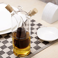 Dazzling Double Oiler Cruet Glass Bottle To Keep Your Vinegar, Oil And Sauces All At One Place