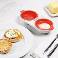 Egg Poacher Cook Poach Pods Egg Tools Microwave Oven Poached Baking Cup Cooking Cool Kitchen Gadgets Coolstuffsales.com -1