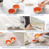 Egg Poacher Cook Poach Pods Egg Tools Microwave Oven Poached Baking Cup Cooking Cool Kitchen Gadgets Coolstuffsales.com -3