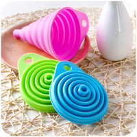 Cool Collapsible Silicone Long Neck Funnel For Easy Liquid Pouring