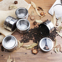 Powerful Well Arranged Magnetic Stainless Steel Spice Rack With Jars To Keep All Your Spices In Order