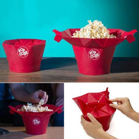Microwave Silicone Magic Household Popcorn Maker Container Healthy Cooking Tools Netflix Home Movie Film Home made Pop Corn homemade fresh popcorn maker Cool Kitchen Gadgets Coolstuffsales.com -1