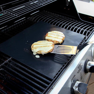 Amazing Non-Stick Reusable BBQ Grill Mat That Will Save You Hours Of Grill Cleaning Time (2 Pcs/Set)