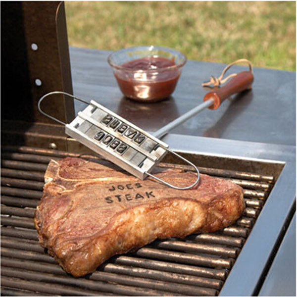 Individual Branding Iron Stamp With Changeable Letters To Add Personalization To Your Steak