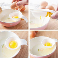 Plastic Egg Yolk White Separator Eco Friendly Food Grade Material Egg Divider Tool Breakfast Egg White Omelette Cakes Candies Cookies Baking Cooking Shakes Cool Kitchen Gadgets Coolstuffsales.com -6
