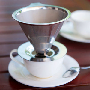 Paperless Pour Over Double Layered Mesh Coffee Filter To Brew A Delicious Cup Of Coffee