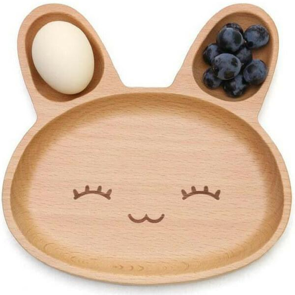Cute Design Wooden 3 Compartment Platter Tray For Keeping Your Kids Entertained (Multiple Designs)
