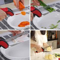 Integrated Cutter That Eliminates The Need Of A Separate Chopping Board and Knife