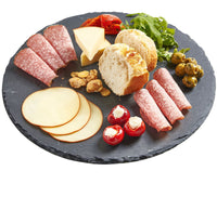 Fancy Natural Round Slate Tray To Add Vibrancy To The Colors Of Your Gourmet Food Serving