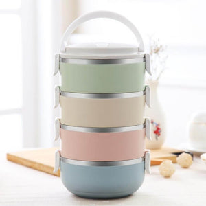 Awesome Japanese Style Multi-layered Lunch Box With Gradient Colors (Not Suitable For Microwave)
