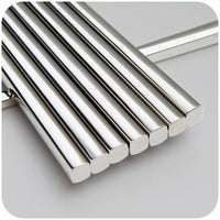 Elegant Squared Stainless Steel Long-lasting Chopsticks (1 Pair)