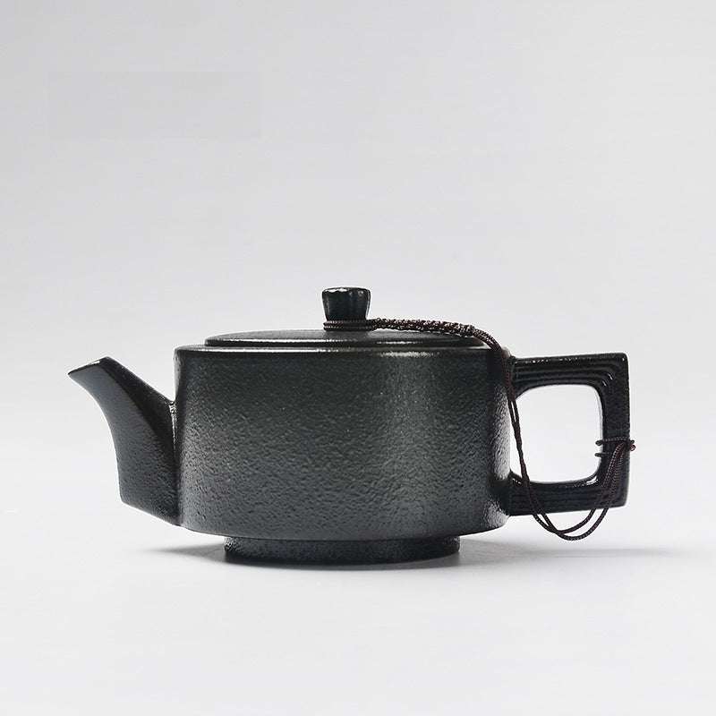 Beautiful Handmade Japanese Zen Black Glazed Ceramic Teapots (Multiple Designs Available)