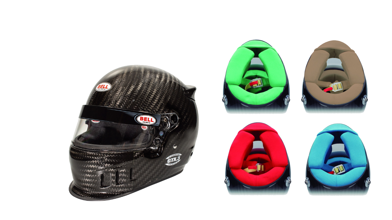 Bell Carbon Fiber Helmets With Custom Interior Colors - Fast Racer
