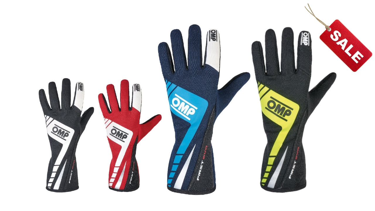 OMP Fist Evo Racing Gloves - Closeout Item - Fast Racer