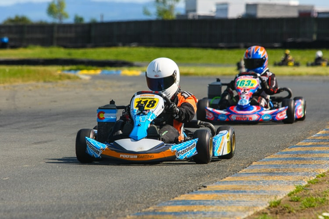 two go karts on the track