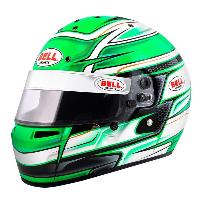 Bell | KC7-CMR Youth Karting Helmet Green - Fast Racer